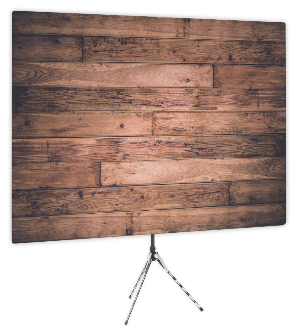 Old School Wood Plank - Front of Webcam Backdrop Design - No Logo