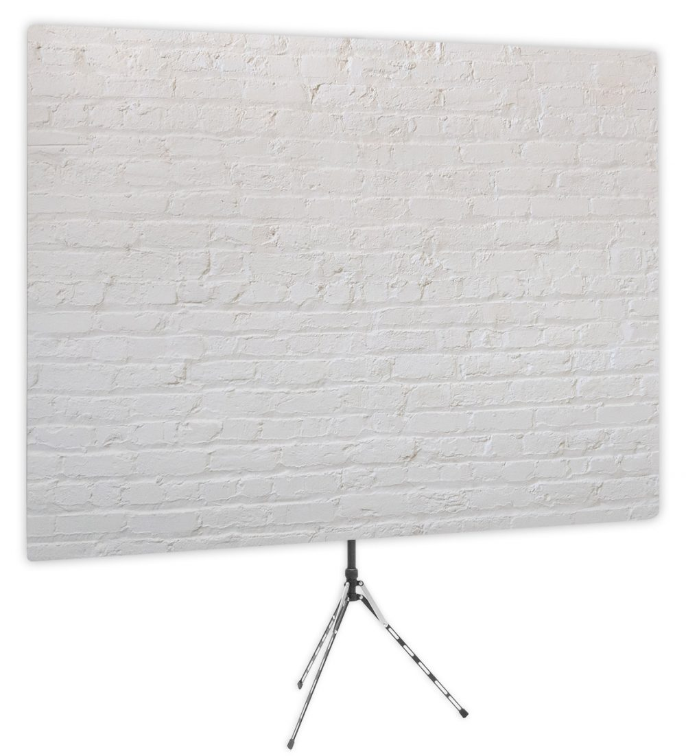 Painted White Brick - Front of Video Call Backdrop - No Logo