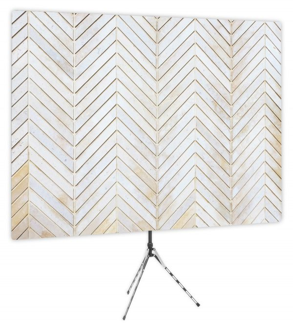 Subtle Whitewashed Chevron - Front of Webcam Backdrop - No Logo