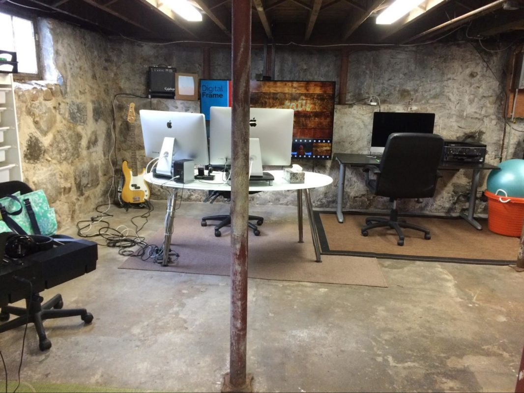 Basement after demo - my background for video calls is a little better