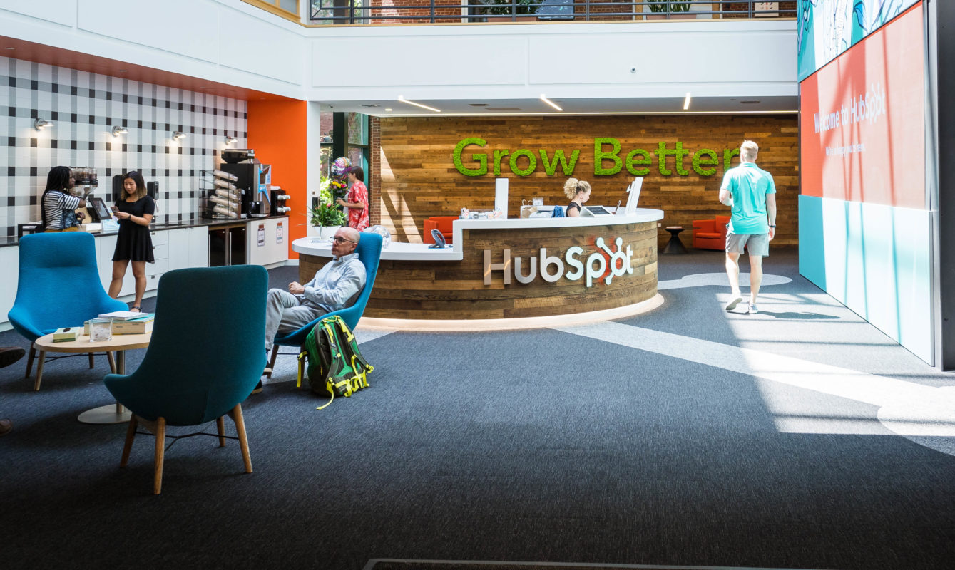 HubSpot's Lobby Decor