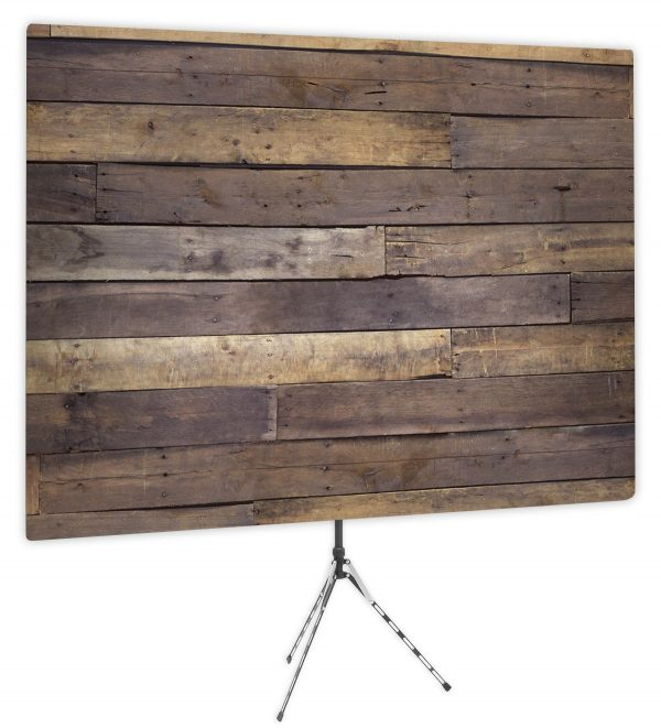 Rustic Wood Wall - Front of Webcam Backdrop Design - No Logo