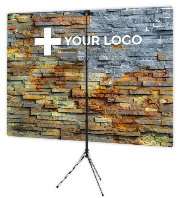 Bold Stacked Stone - Back of Webcam Backdrop - With Logo
