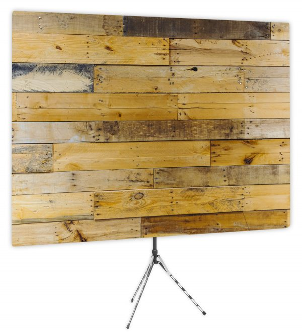 Chic Pallet Wall - Front of Webcam Backdrop - No Logo
