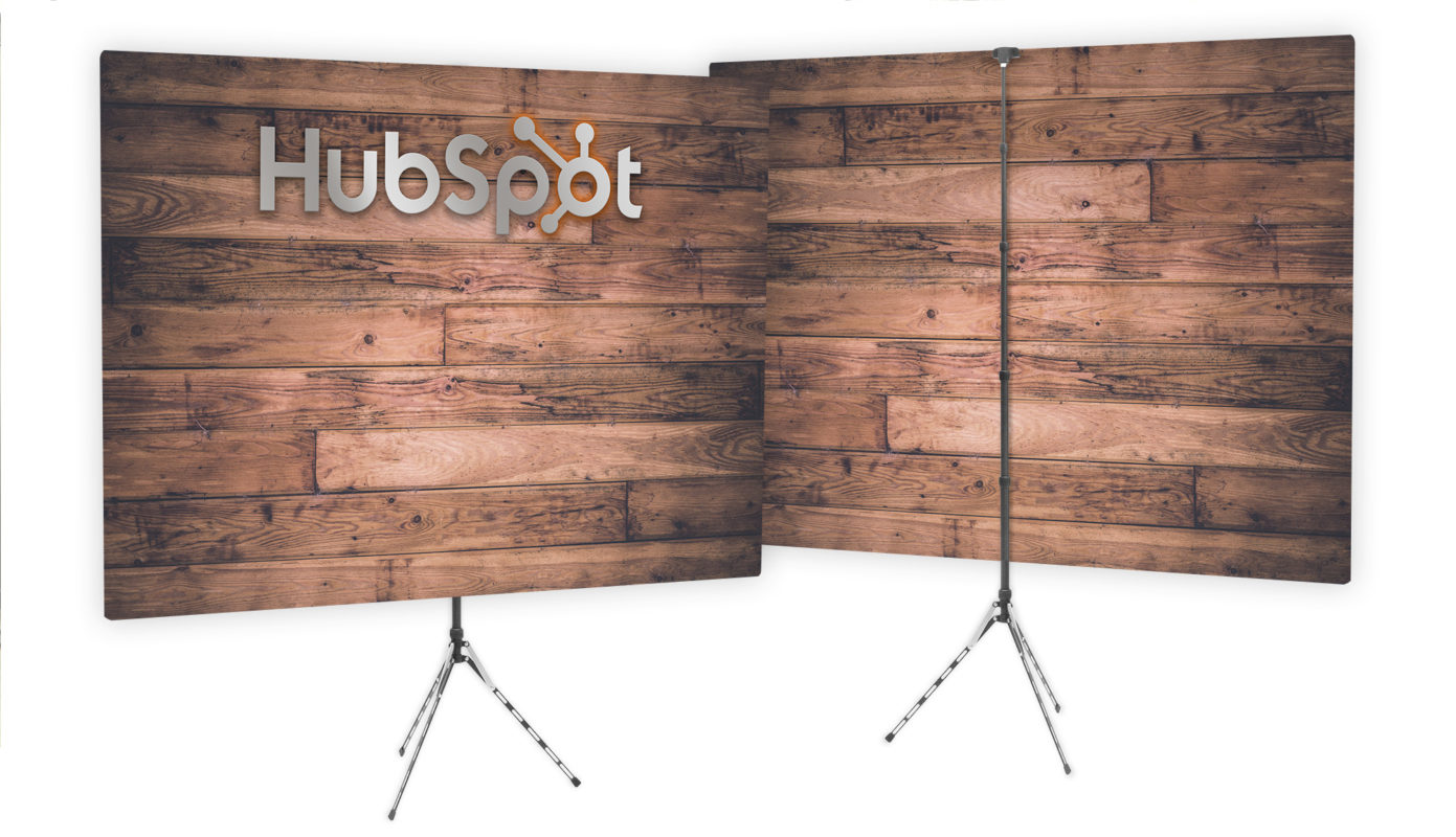 Double Sided, Reversible Branded Video Conference Background - HubSpot