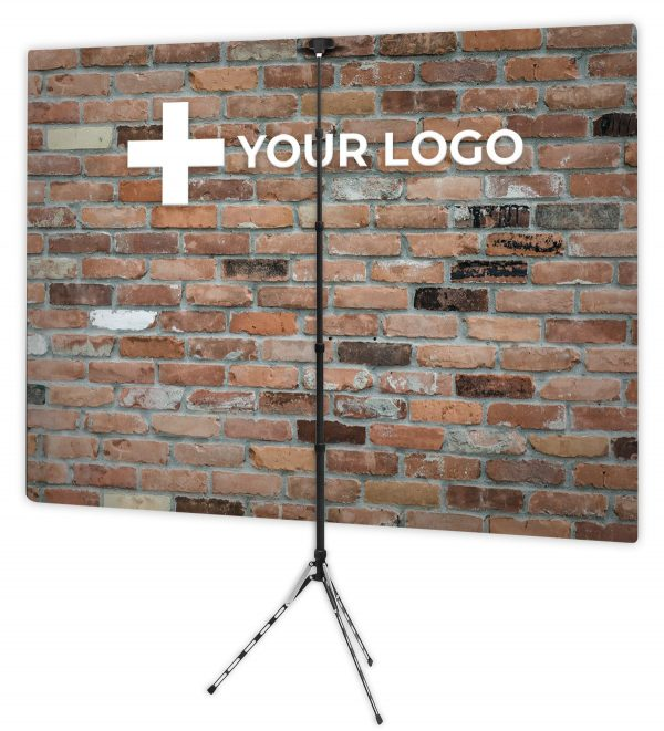Downtown Loft Brick - Back of Webcam Backdrop - With Logo