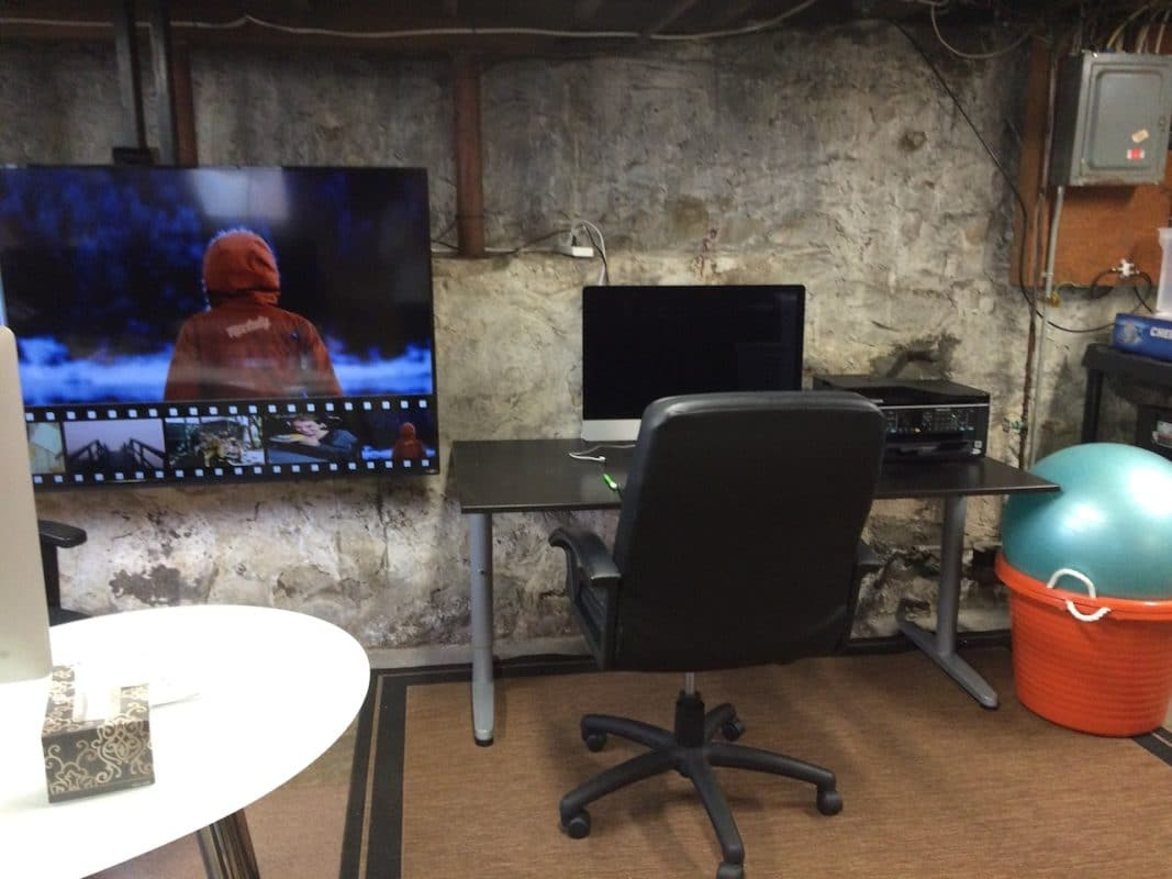 TV monitor in my basement office
