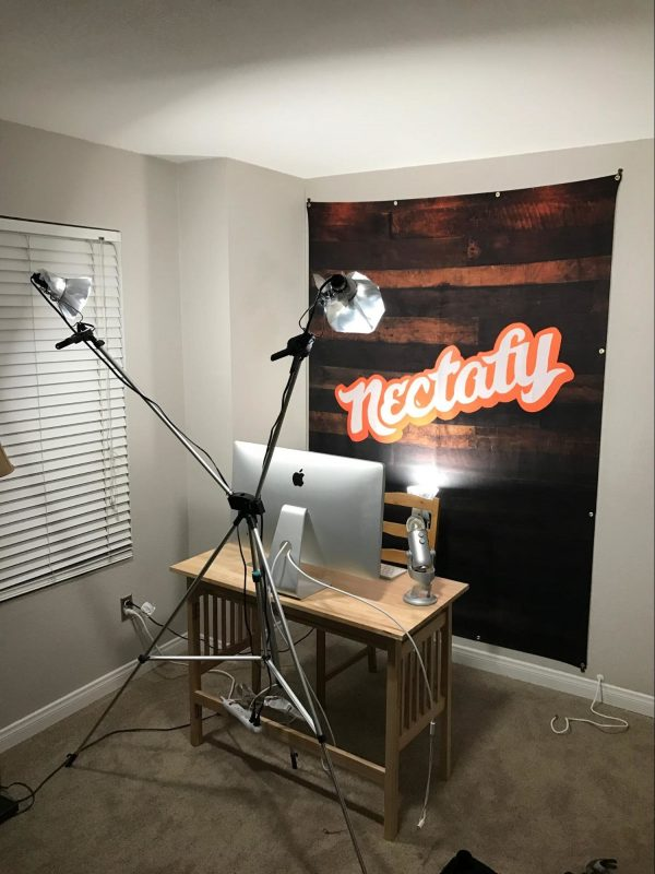Year three backdrop in home office