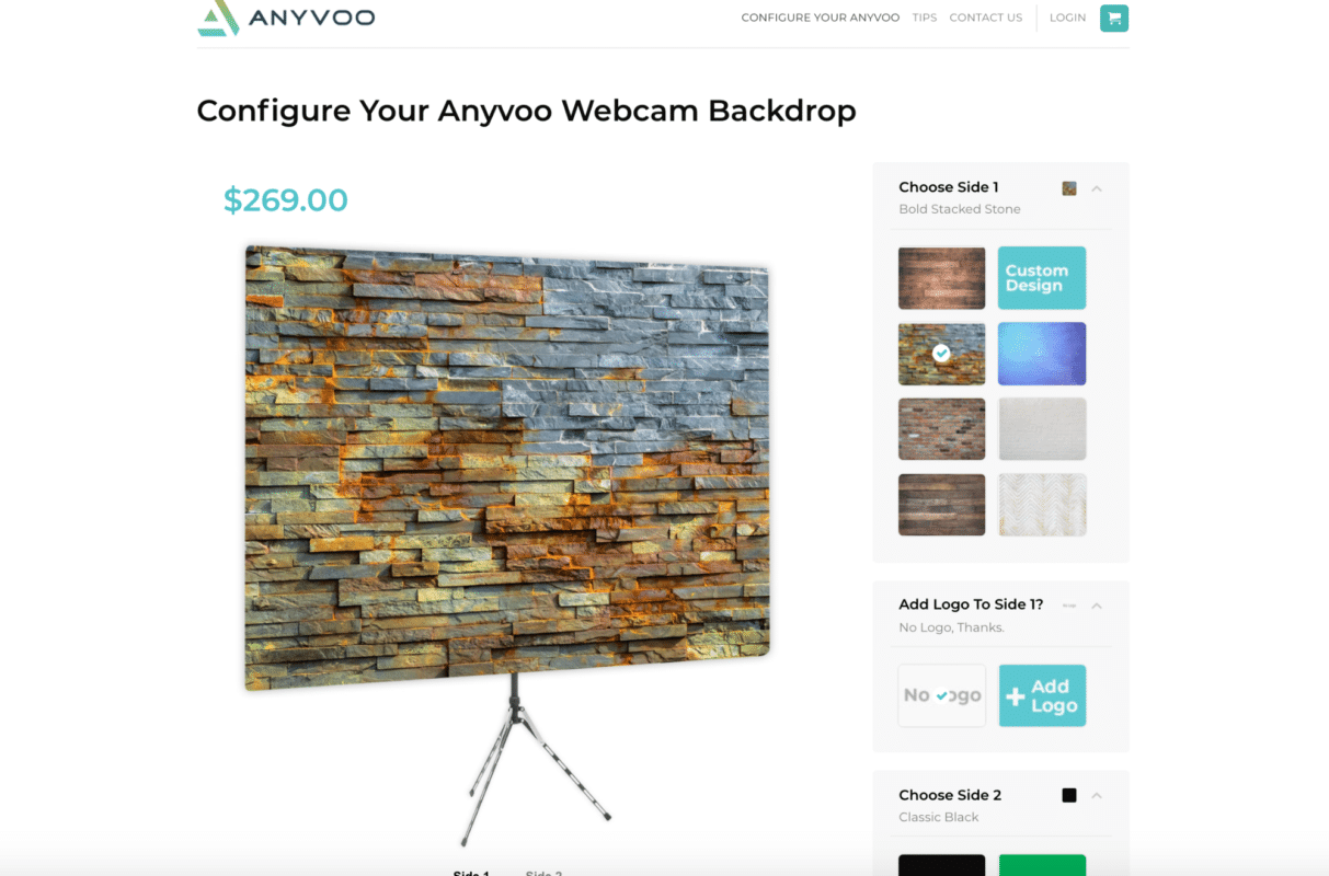 Anyvoo backdrop builder