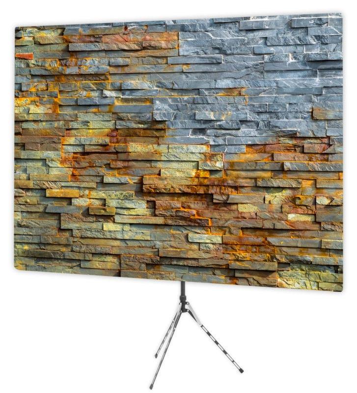 Bold stack stone backdrop