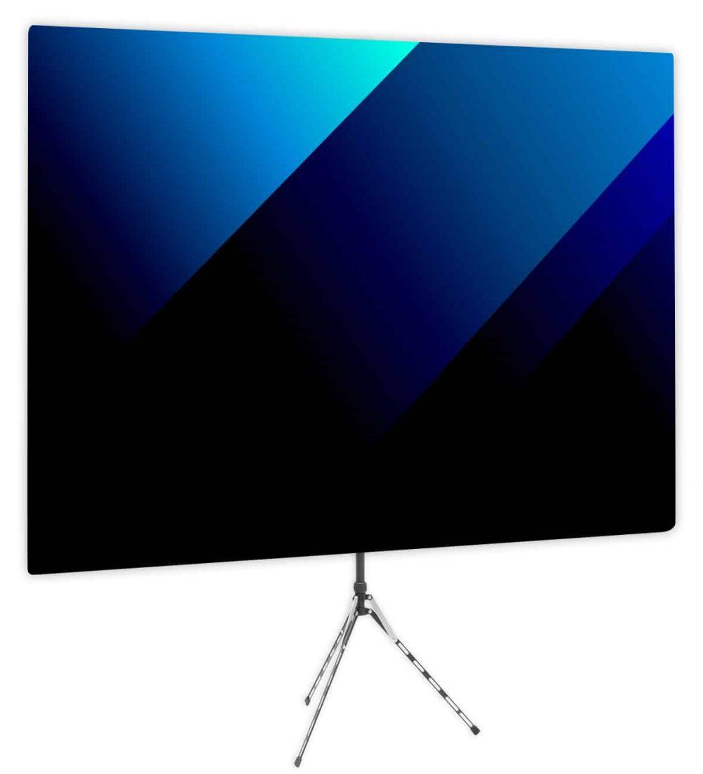 Blue Bold Angle Webcam Backdrop - Side 1