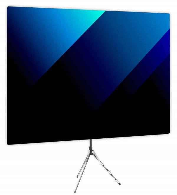 Blue Bold Angle Webcam Backdrop - Side 1