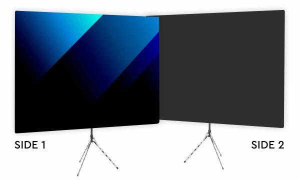Blue Bold Angle Webcam Backdrop - Black Second Side