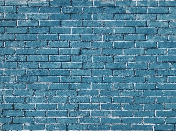Blue Brick Wall Webcam Backdrop
