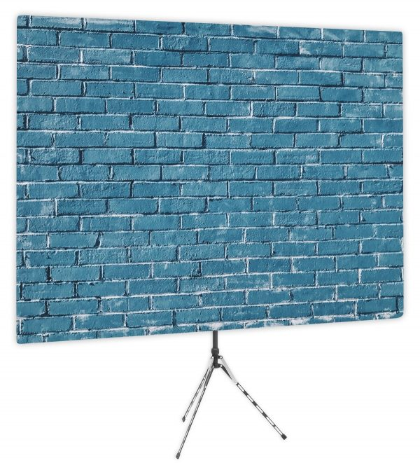 Blue Brick Wall Webcam Backdrop - Side 1
