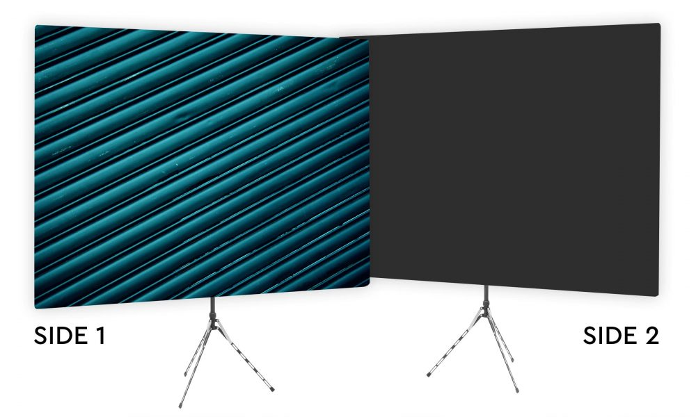 Blue Ridges - Webcam Backdrop - Black Second Side