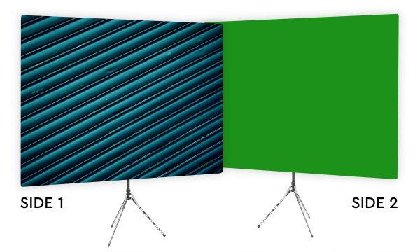 Blue Ridges - Webcam Backdrop - Green Screen Second Side