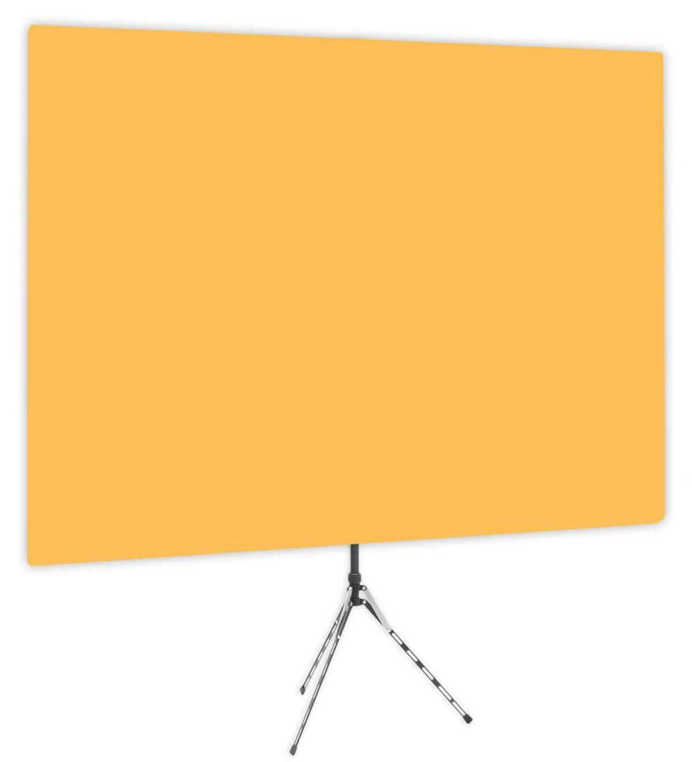 Clementine - Solid Orange Webcam Backdrop - Side 1