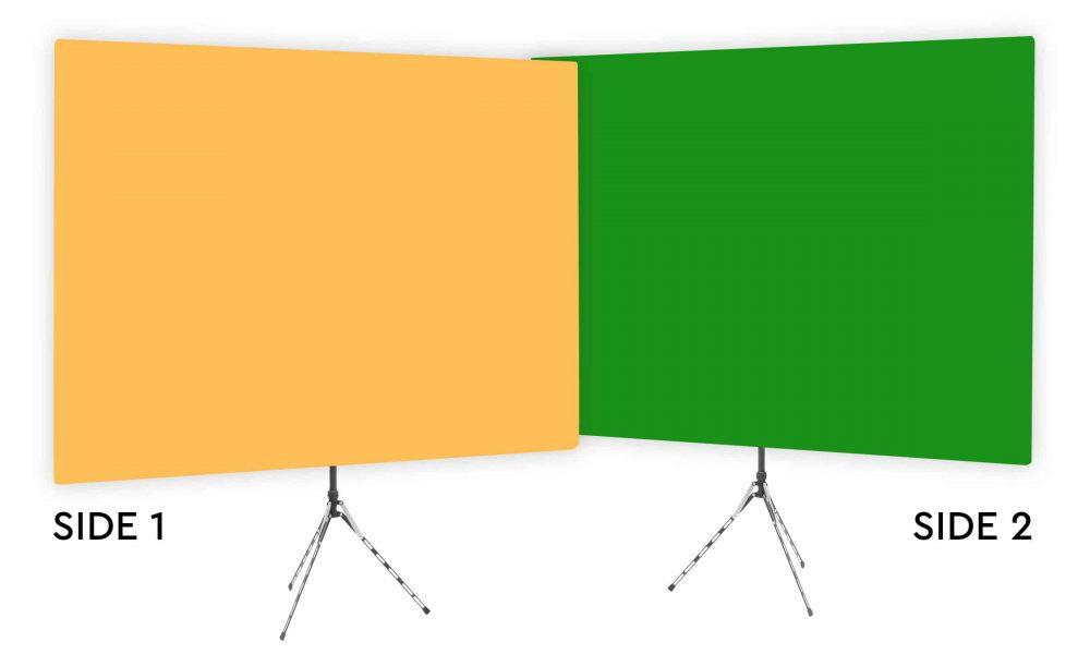 Clementine - Solid Orange Webcam Backdrop - Green Screen Second Side