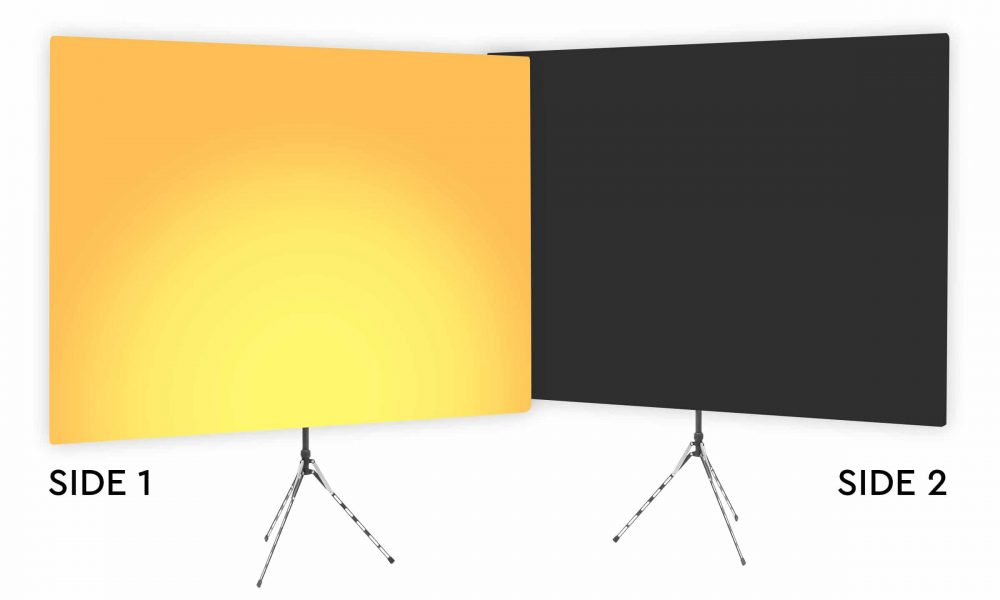Clementine Uplight - Gradient Webcam Backdrop - With Black Second Side