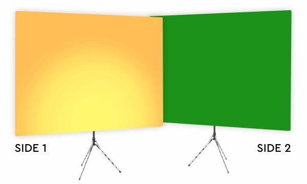 Clementine Uplight - Gradient Webcam Backdrop - With Green Screen Second Side