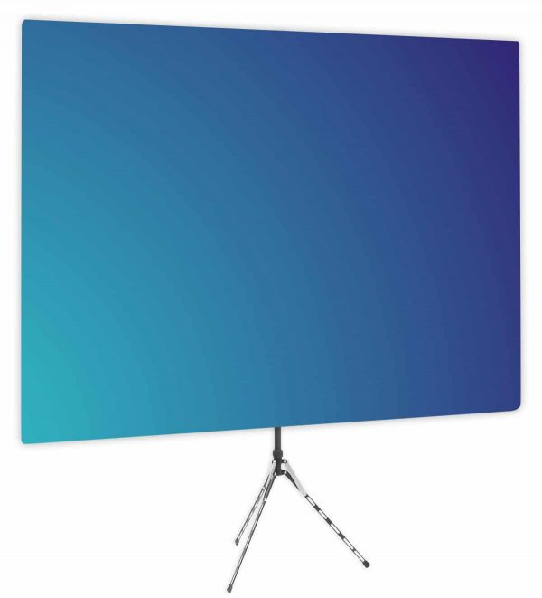 Deep Sky Blue Gradient Webcam Backdrop - Side 1