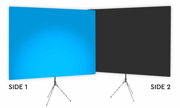 Destin Blue Uplight - Blue Gradient Webcam Backdrop - With Black Second Side