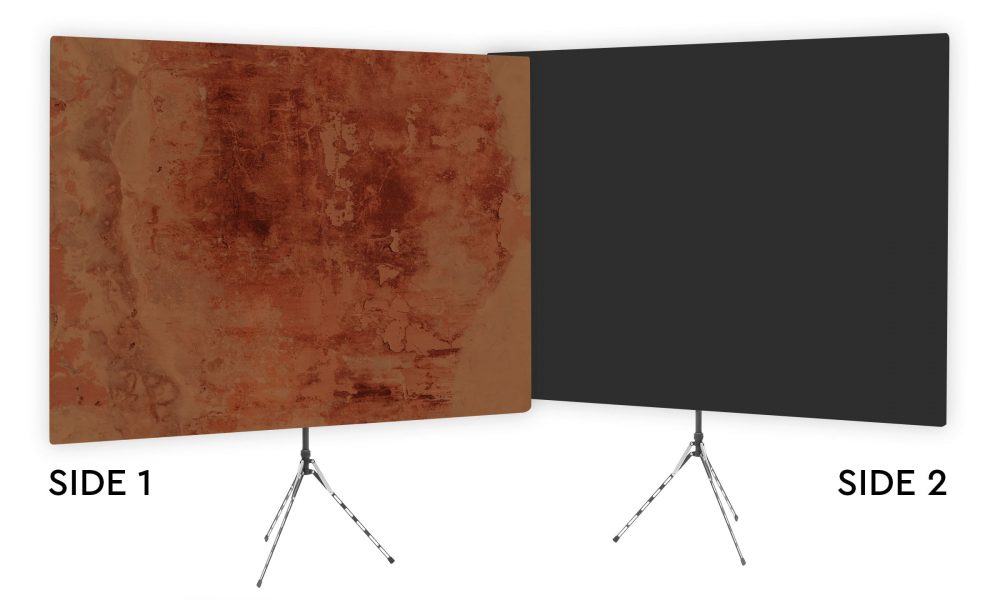 Earthtone Masterpiece - Brown Webcam Backdrop - Black Second Side