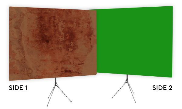 Earthtone Masterpiece - Brown Webcam Backdrop - Green Screen Second Side