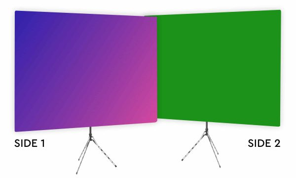 Eighties Glow - Pink Purple Gradient Webcam Backdrop - Green Screen Second Side