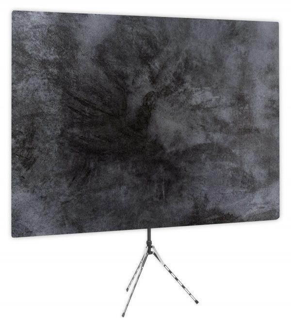 Elaborate Monochrome - Black Webcam Backdrop - Side 1