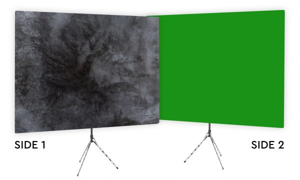 Elaborate Monochrome - Black Webcam Backdrop - Green Screen Second Side