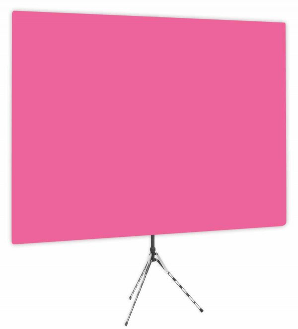 Fuchsia Glow - Solid Pink Webcam Backdrop - Side 1