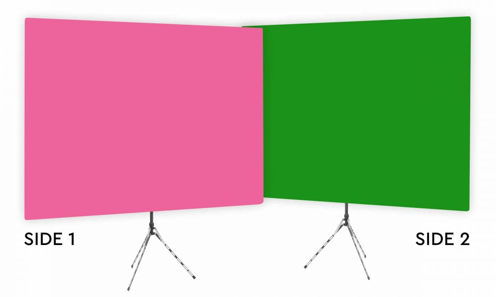 Fuchsia Glow - Solid Pink Webcam Backdrop - Green Screen Second Side