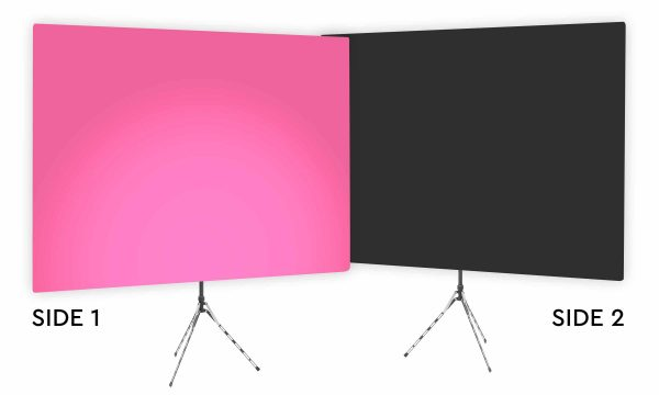 Fuscia Glow Uplight - Pink Gradient Webcam Backdrop - With Black Second Side