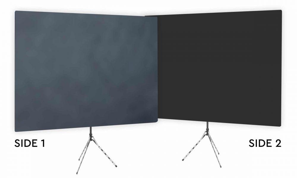 Gray Shadows Webcam Backdrop - Black Second Side