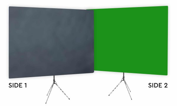 Gray Shadows Webcam Backdrop - Green Screen Second Side