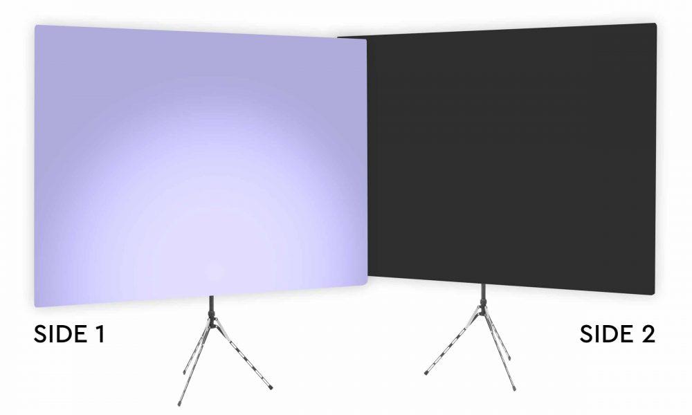 Hosta Blossom Uplight - Lavender Gradient Webcam Backdrop - With Black Second Side