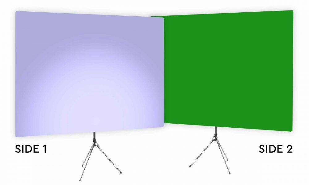 Hosta Blossom Uplight - Lavender Gradient Webcam Backdrop - With Green Screen Second Side