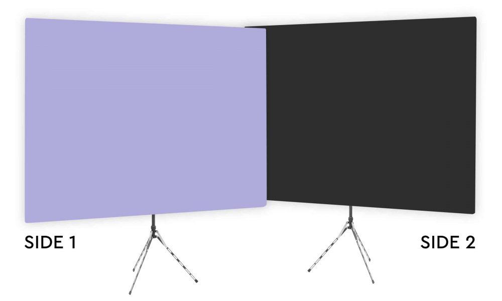 Hosta Blossom - Solid Lavender Webcam Backdrop - With Black Second Side