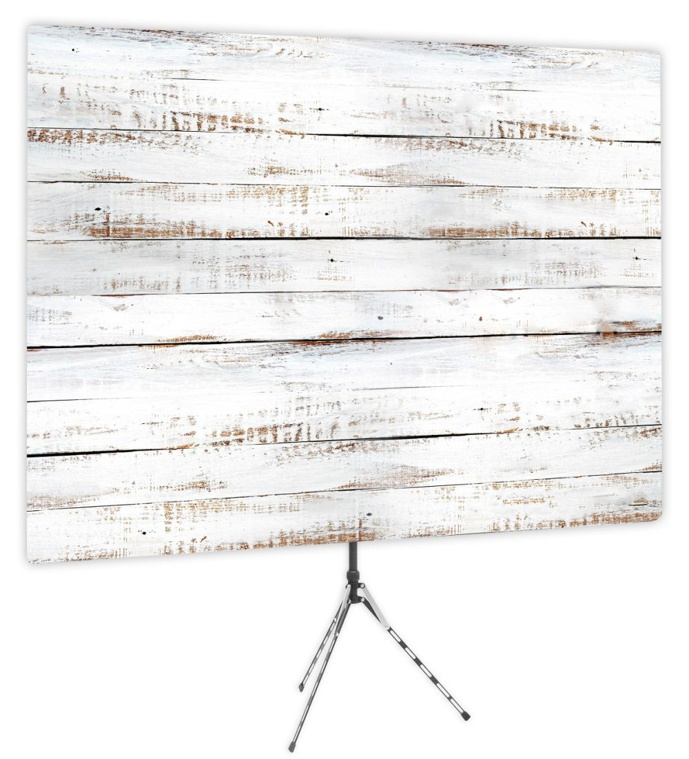 Shiplap White Wood Backdrop - Webcam Backdrop