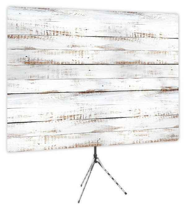 Shiplap White Wood Backdrop - Webcam Backdrop