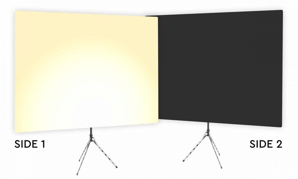 Just Desert Tan Uplight - Tan Gradient Webcam Backdrop - With Black Second Side