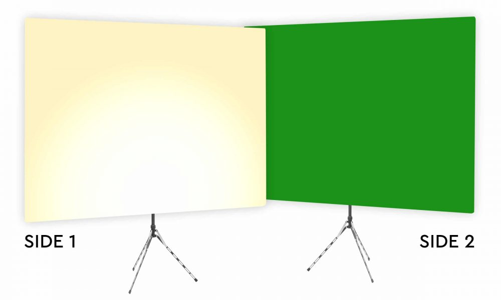 Just Desert Tan Uplight - Tan Gradient Webcam Backdrop - With Green Screen Second Side