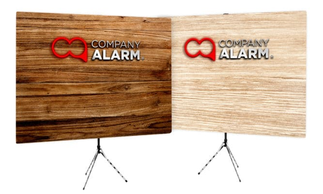 Logo Wood Wall Background - Company Alarm