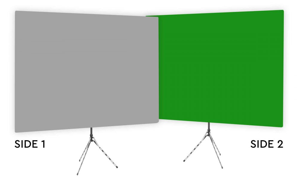Mitty Gray - Solid Gray Webcam Backdrop - Green Screen Second Side