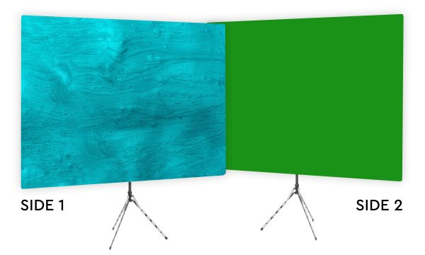 Ocean Floor - Teal Webcam Backdrop - Green Screen Second Side
