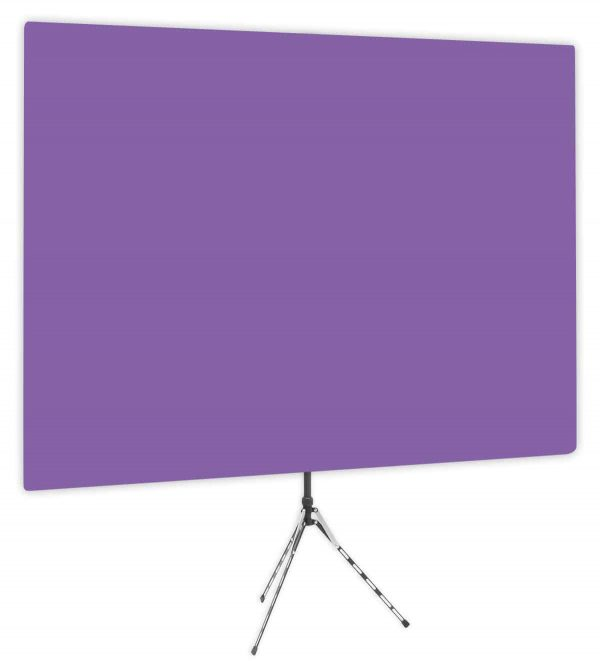 Purple Rhyme - Solid Purple Webcam Backdrop - Side 1