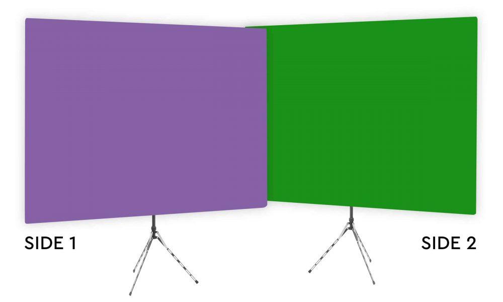 Purple Rhyme - Solid Purple Webcam Backdrop - Green Screen Second Side