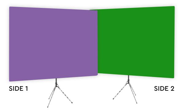 Purple Rhyme - Solid Purple Webcam Backdrop - Green Screen Second Side